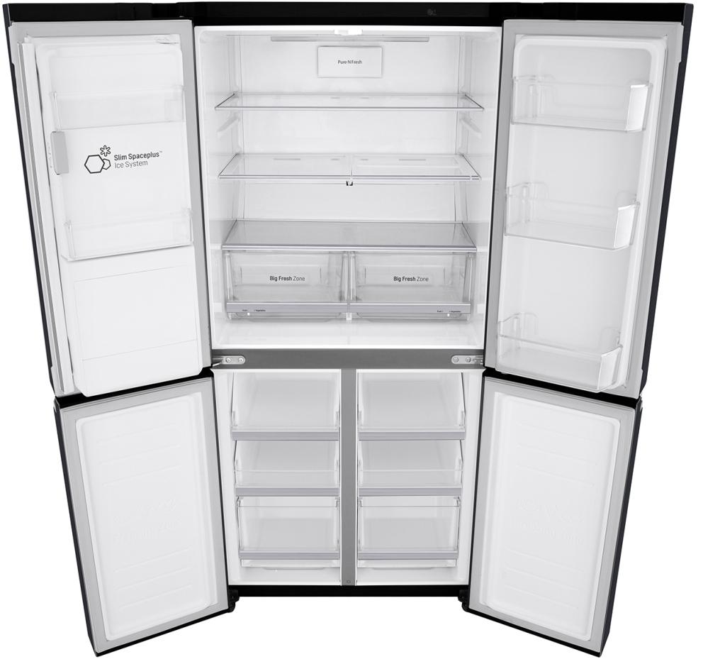 Lg 570l Slim French Door Refrigerator Gf L570mbl Ebay