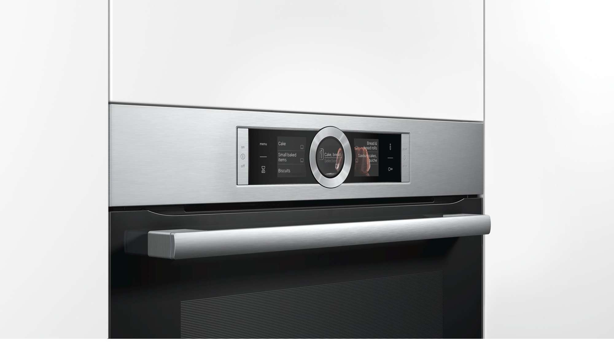 bosch 60cm series 8 71l pyrolytic electric wall oven hbg6767s1a ebay. Black Bedroom Furniture Sets. Home Design Ideas