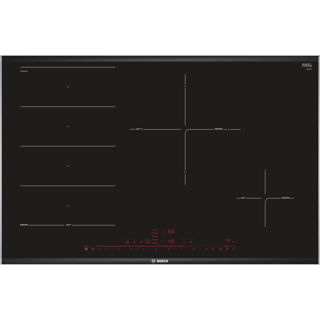 bosch 80cm series 8 black ceramic glass induction cooktop. Black Bedroom Furniture Sets. Home Design Ideas