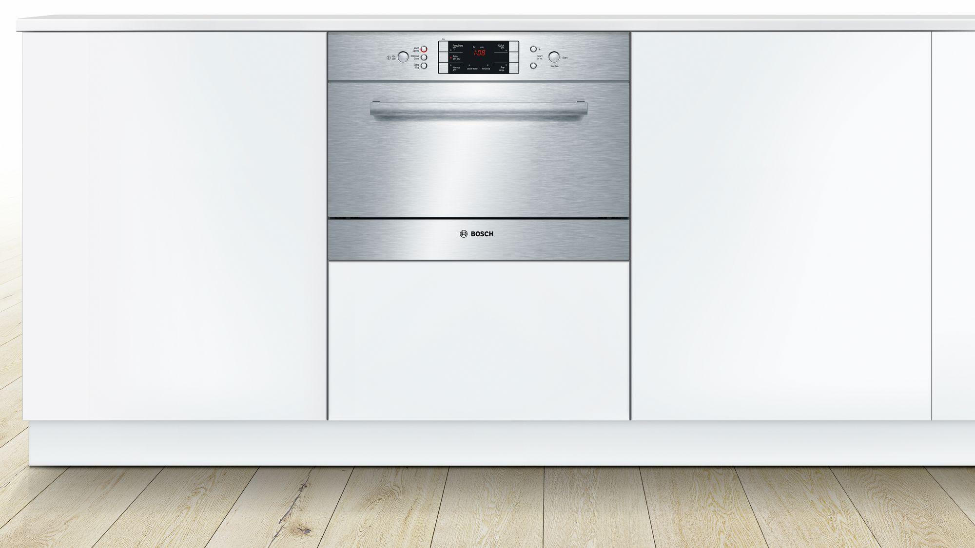 bosch 60cm series 6 built in compact dishwasher ske53m05au. Black Bedroom Furniture Sets. Home Design Ideas