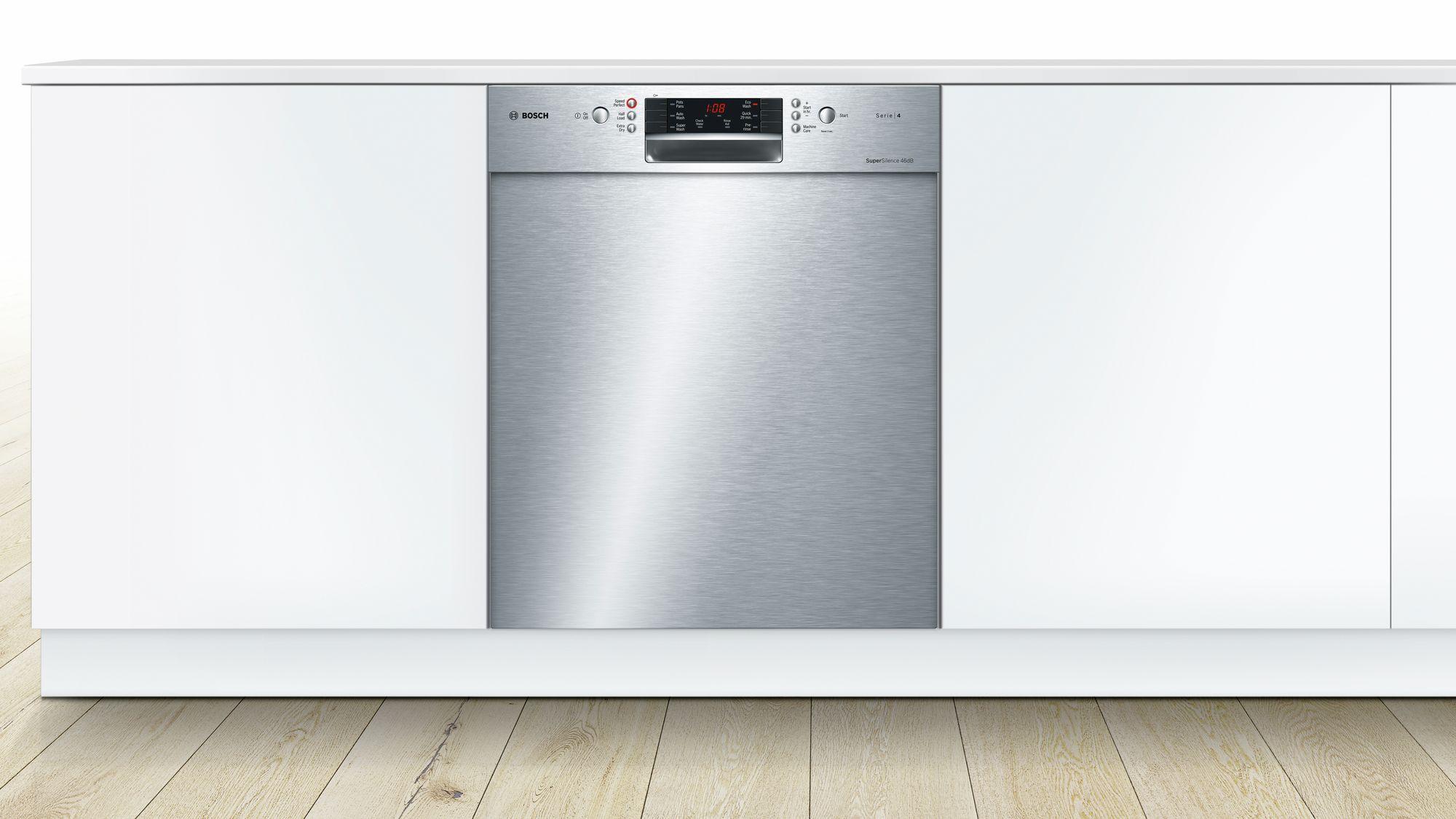 bosch 60cm series 4 built in dishwasher smu46gs01a ebay. Black Bedroom Furniture Sets. Home Design Ideas