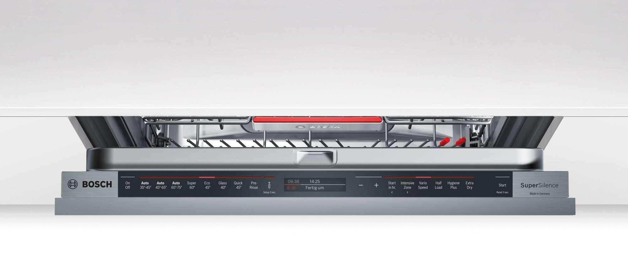 bosch 60cm series 8 fully integrated dishwasher smv88tx01a. Black Bedroom Furniture Sets. Home Design Ideas