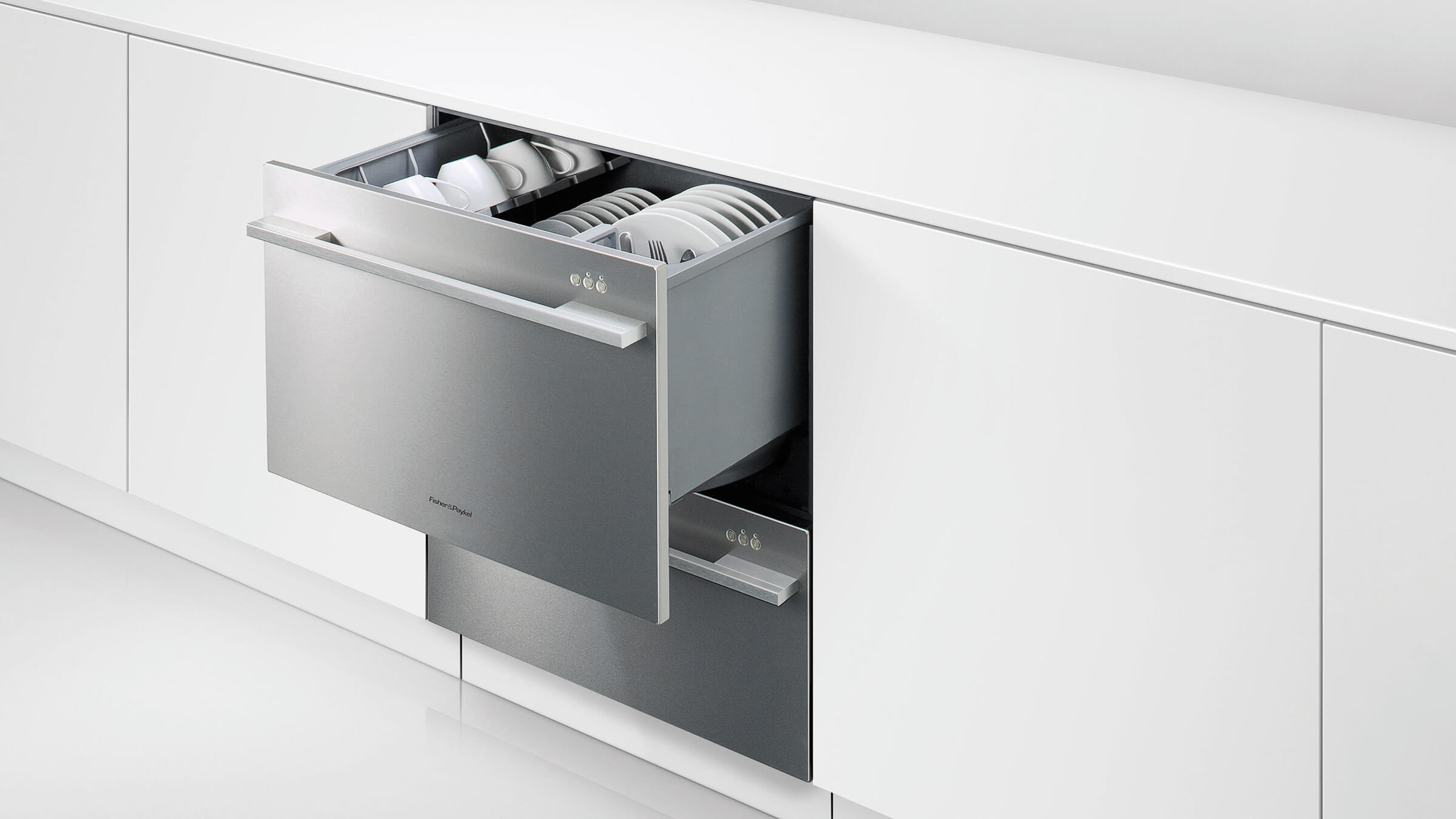 fisher paykel dishwasher fisher amp paykel 60cm white built in single dishdrawer 29916